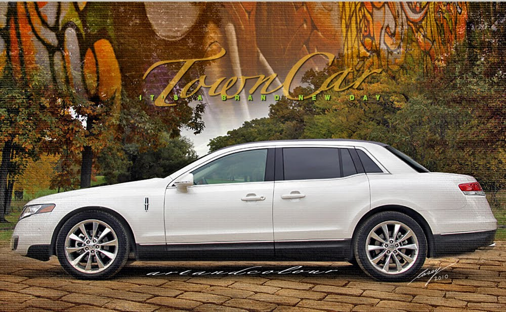 2014 Lincoln Town Car http://artandcolour.blogspot.com/2010/05/its-brand-new-day-old-school-town-car.html