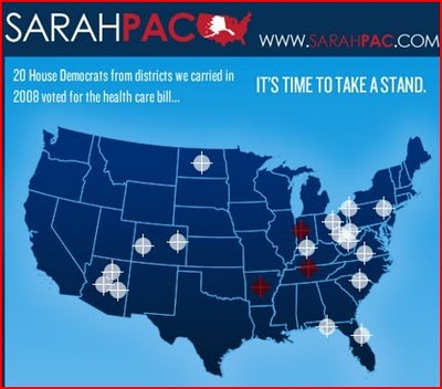 One of the three crosshairs in Arizona belongs to Rep. Gabrielle Giffords