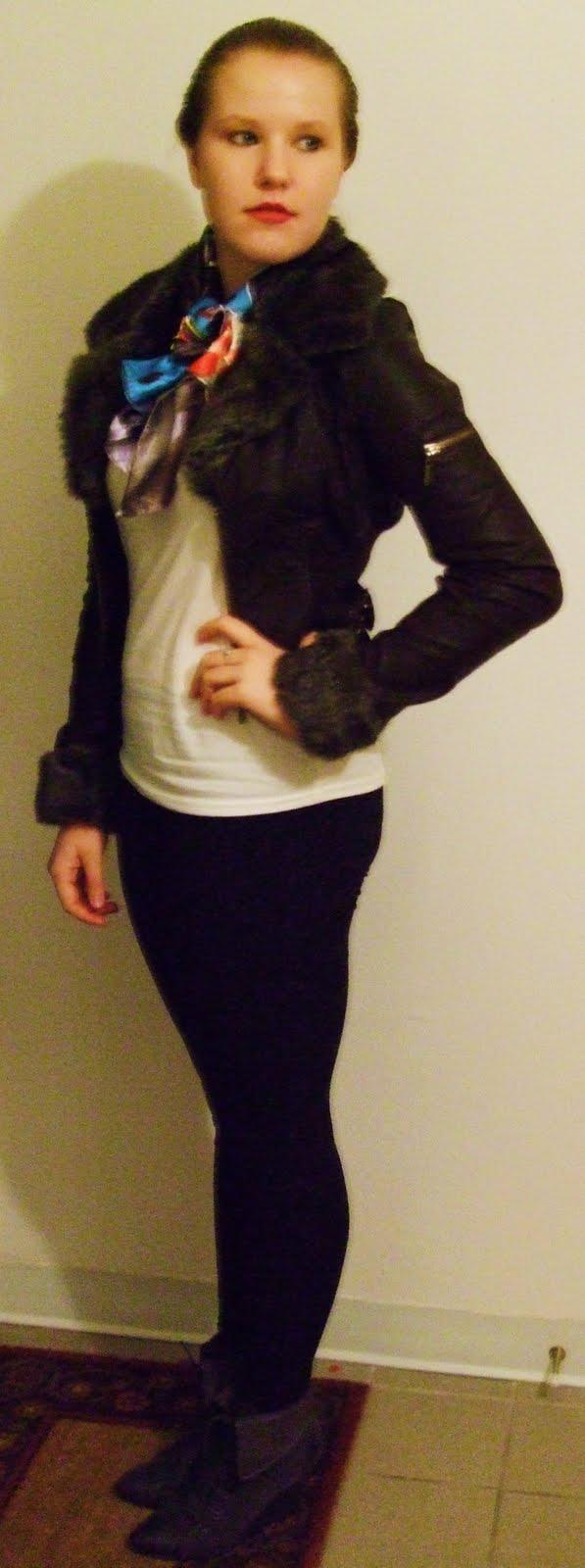 faux fur leather aviator  jane