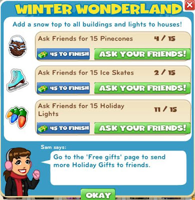 winter wonderland mission of zynga's cityville game
