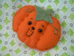 felt mascot pumpkin