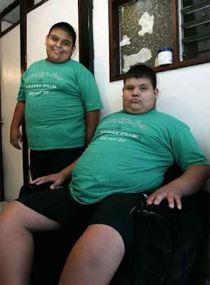 gemelos obesos