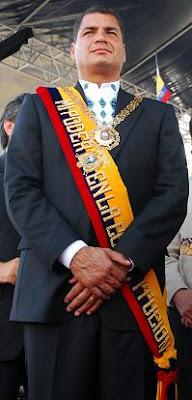Rafael Correa, Presidente del Ecuador