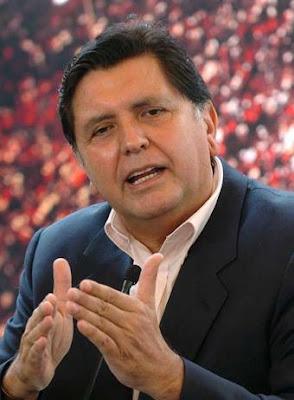 Alan García, el flamante agente de corretaje inmobiliario, con sede en Palacio de Gobierno