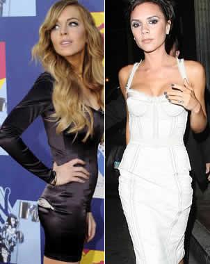 Lindsay Lohan y Victoria Beckham alarman por su extrema delgadéz