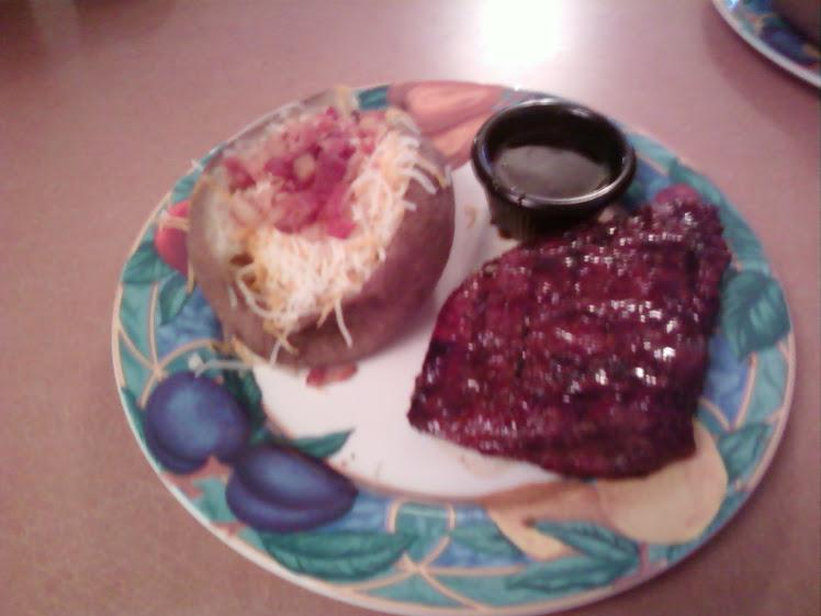 Jack Daniel's Glazed Flat Iron Steak