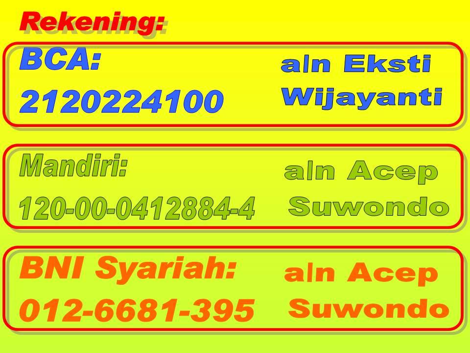 Alumni SMP Negeri 42 Jakarta: Nomor rekening Reuni960