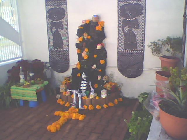 ofrenda mexicana de día de muertos