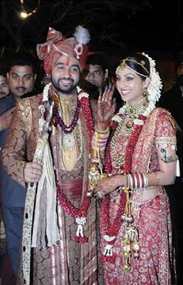 Bollywood Actress Shilpa Shetty marriage album photos