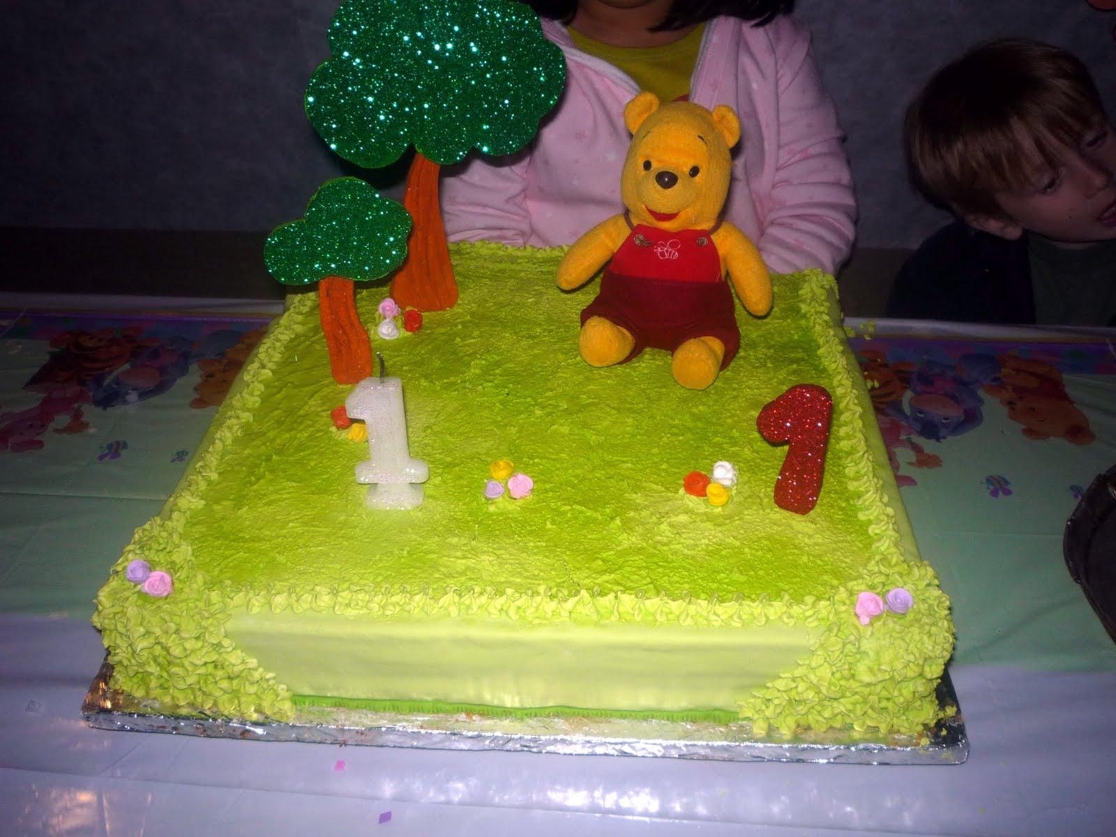 Infantil Con Adorno En Telgopor Y Peluche   Tema Baby Winnie Pooh