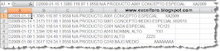 Tratamiento ficheros texto con Excel.