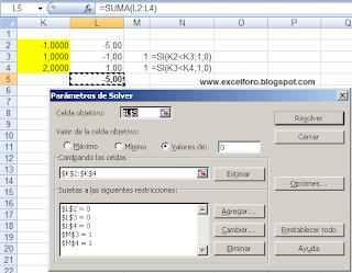 Soluciones de una ecuación de tercer grado en Excel.