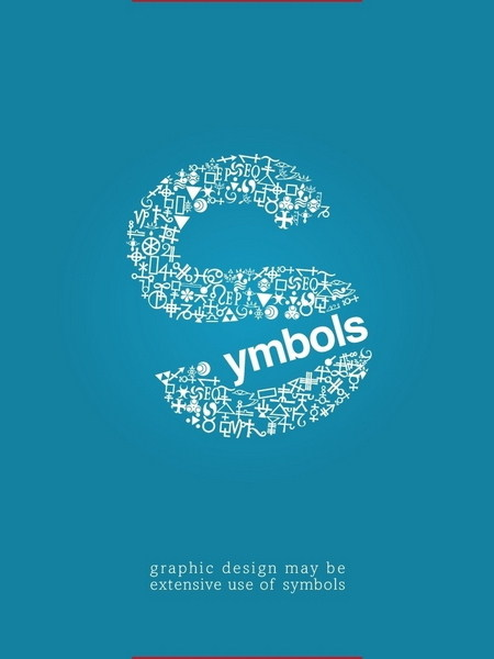 thoughts and responses typographic posters symbols