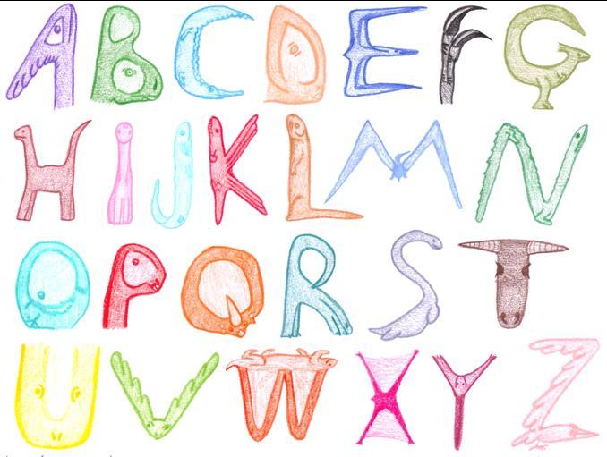 Prehistoric Animal Alphabet