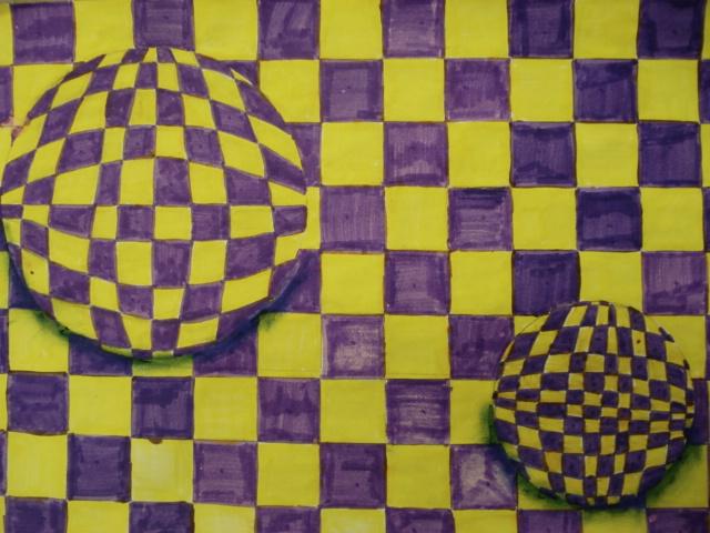 a faithful attempt op art 3 d spheres