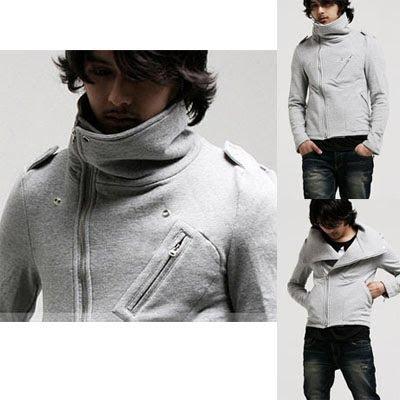 Men Spirits Funnel-Neck Side-Zip Jacket