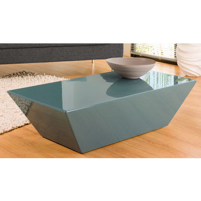 Frosty mint tapered rectangular coffee table teal for Teal coffee table