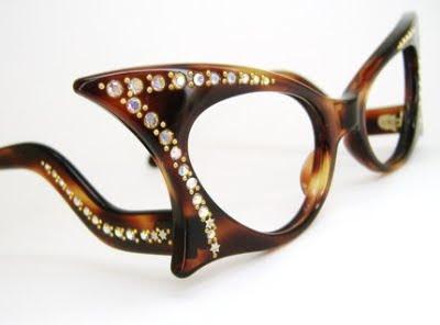 Cat Eye Rhinestone Eyeglass Frames : Frosty Mint: Vintage 1950s Winged Tortoise Cat Eye With ...