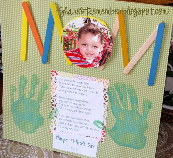 Mother 39 s day projects part 1 things to share and remember for Mother s day projects for preschoolers