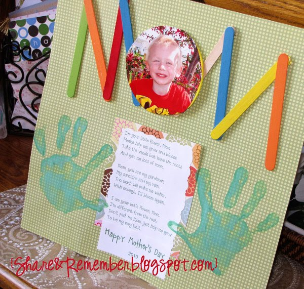 Mother 39 s day projects part 1 things to share and remember for Mother s day crafts for kindergarten