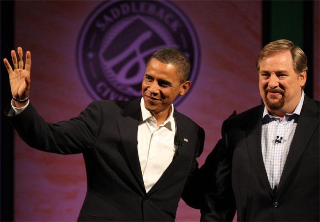 [Barack Obama Rick Warren]