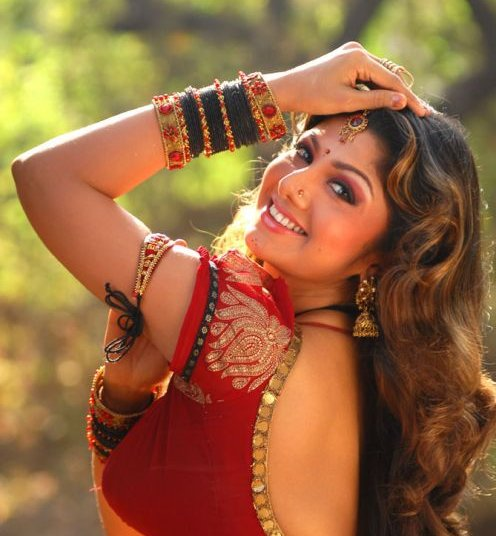 rambha in saree