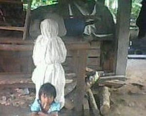 Foto Penampakan Hantu Pocong Beredar di Palembang