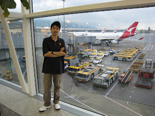 Before boarding in HKIA