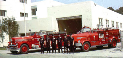 LAFD Station 82 crew circa 1964. Photo from Bob Foster collection courtesy of LAFIRE.COM - Click to learn more...