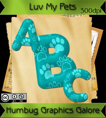http://humbuggraphicsgalore.blogspot.com/2009/05/luv-my-pets-aqua-felt-alpha.html