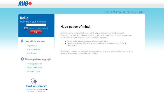 RHB Online : Login to RHB Internet Banking - logon.rhb.com.my Online Banking