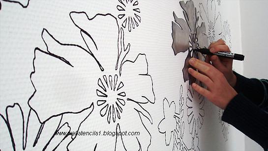 Wall StencilsFlower wall stencils December 2010
