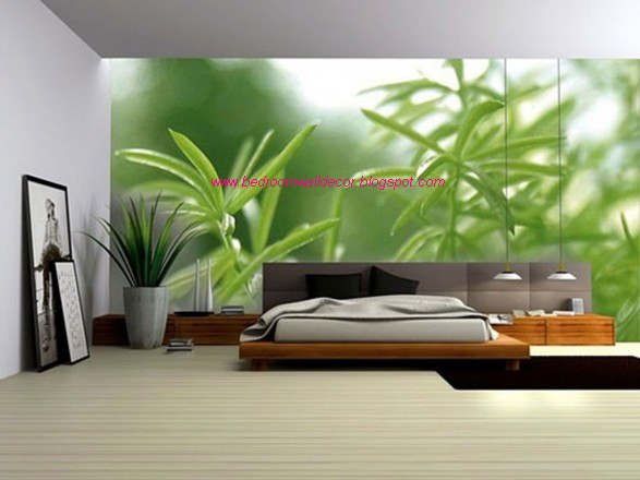 Green Bedroom Walls Decorating Ideas