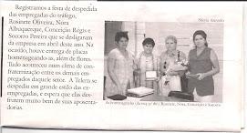 APOSENTADORIA DO PESSOAL DO TRÁFEGO - FOTO EXTRAÍDA DO JORNAL O TELERN DE DEZEMBRO 1997.