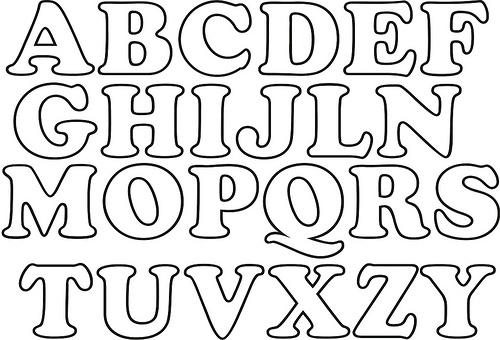 Moldes de letras goticas para imprimir y recortar - Imagui