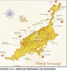 Mapa de Fernando de Noronha