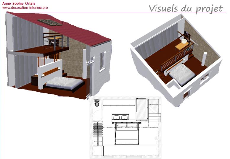 Agence aso concept anne sophie ortais une suite for Plan suite parentale 25m2