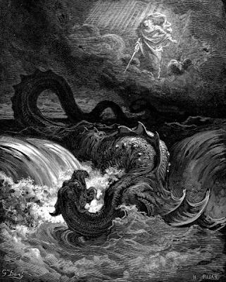 A Destruição do Leviatã, de Gustave Doré, 1865