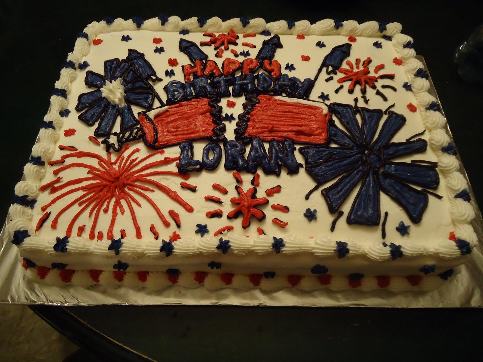 Cats Cake Creations Fireworks Birthday Cake