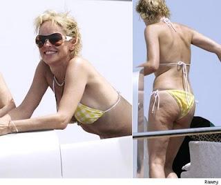 Sharon Stone Yacht Bikini Candids