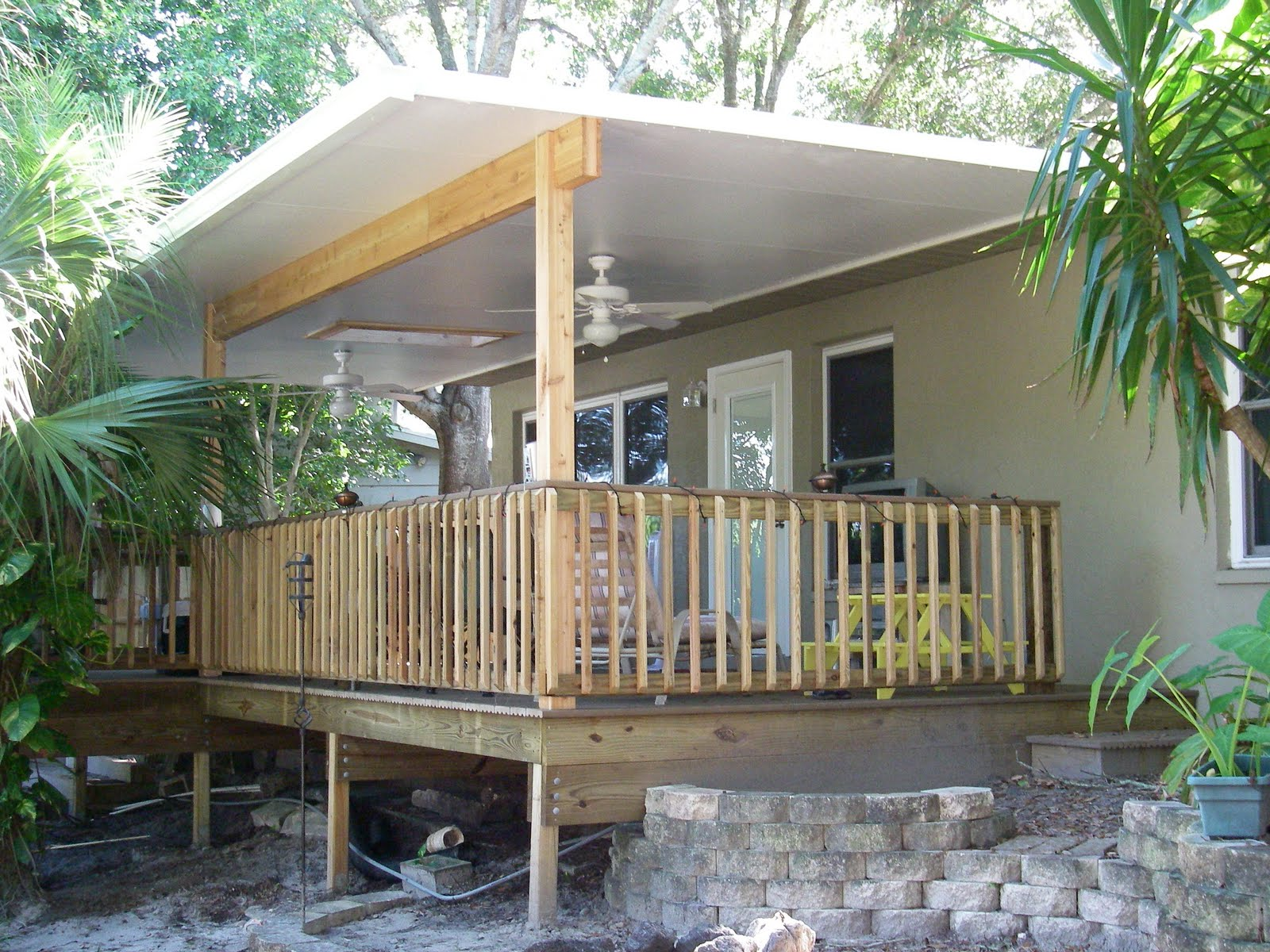 Pinellas rad deck with a roof for Deck roof plans
