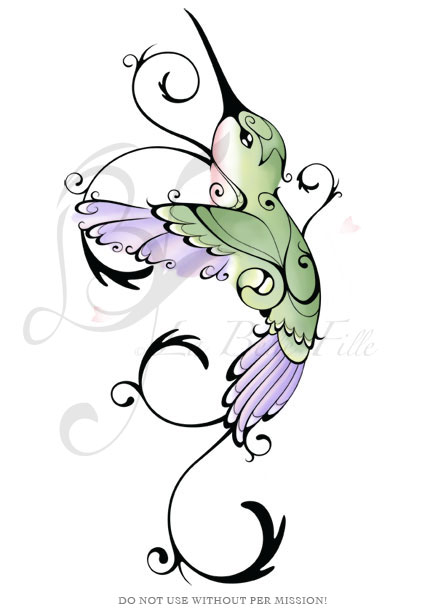 humming bird tattoo. Hummingbird