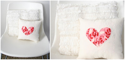 Heart pillow construction