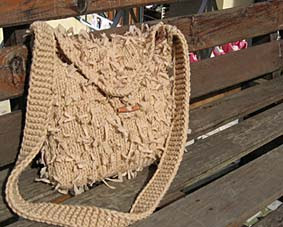 knitted bag, knit bag