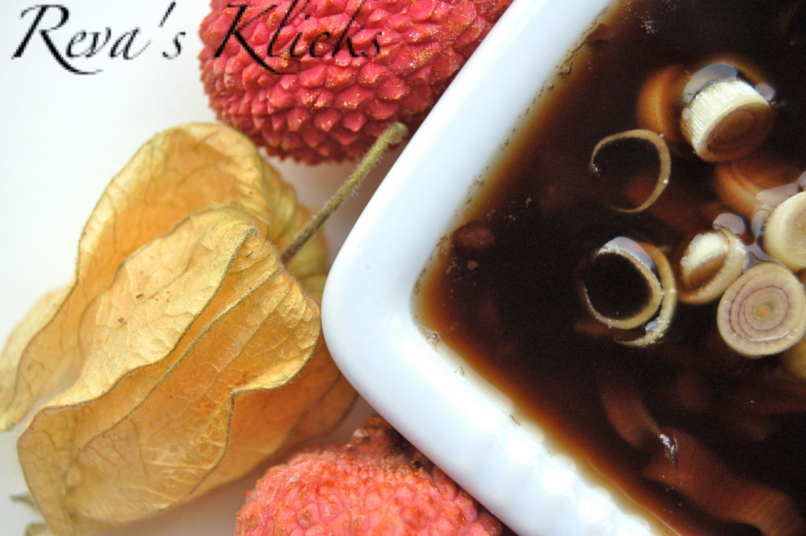 Kaarasaaram: Tropical Fruit Salad with Ginger lemon Grass Syrup.