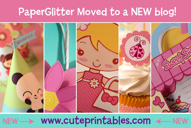 Paper Glitter - Cute Downloads, Printables, Paper Crafts, Kawaii, Party Decorations, Paper Dolls