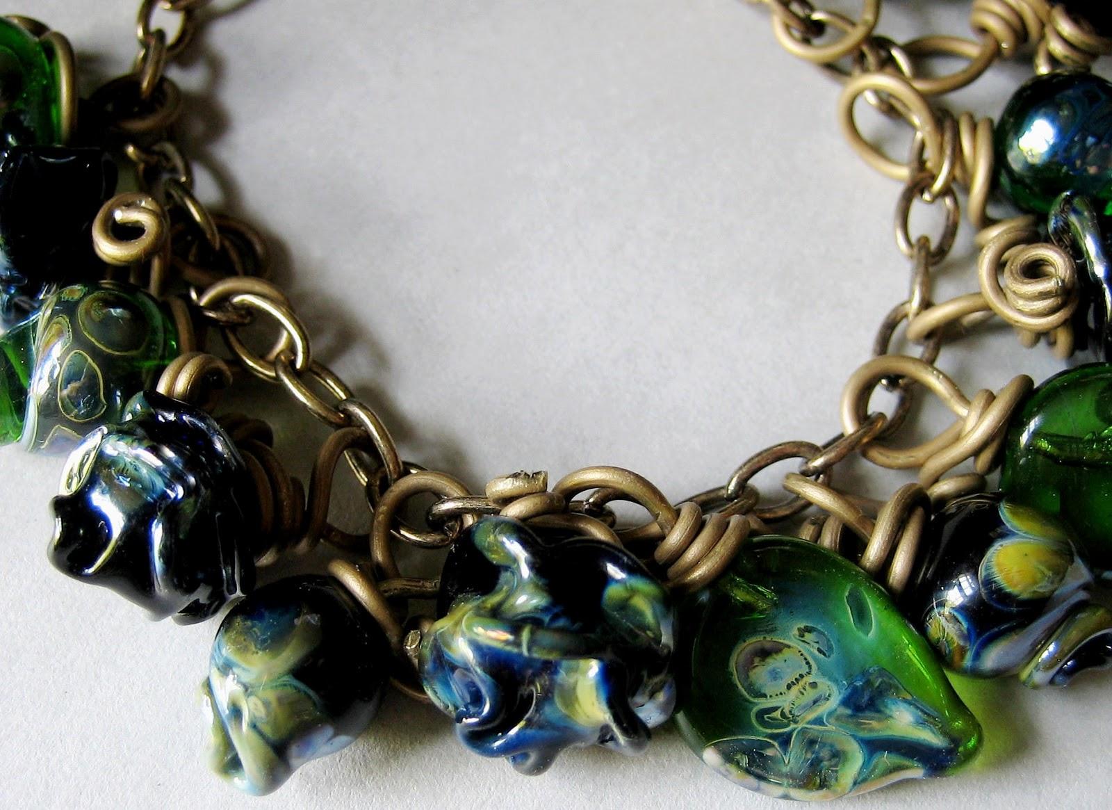belvedere beads: Black Roses Bracelet