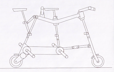Folding Tandem Bicycle on Idea Of A Folding Compact Tandem Would Be An Interesting On To Try Out