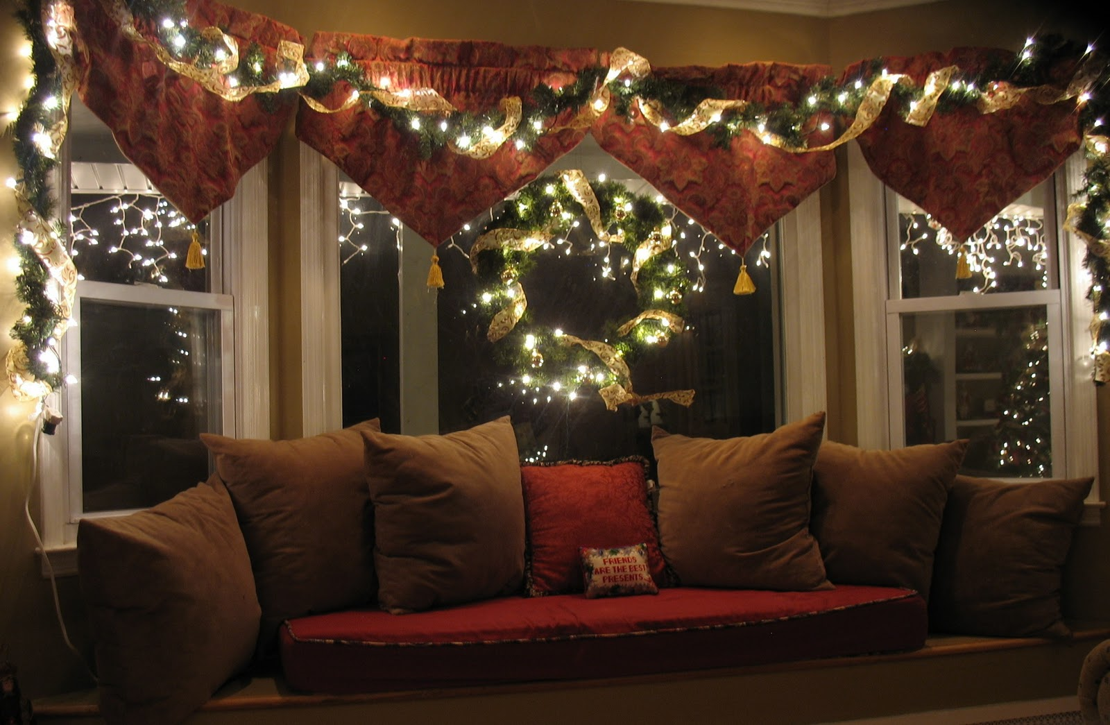 Indoor window christmas decorations - Christmas Garland