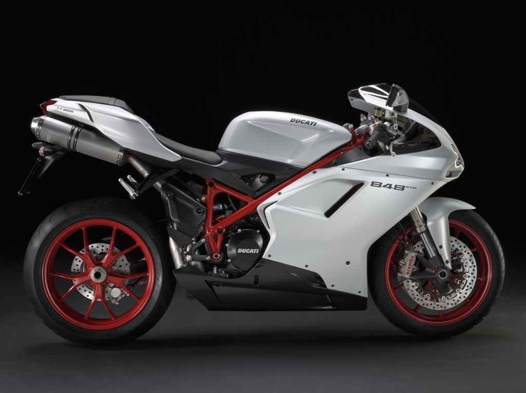 ducati 848 evo white. Black and Ducati Red,